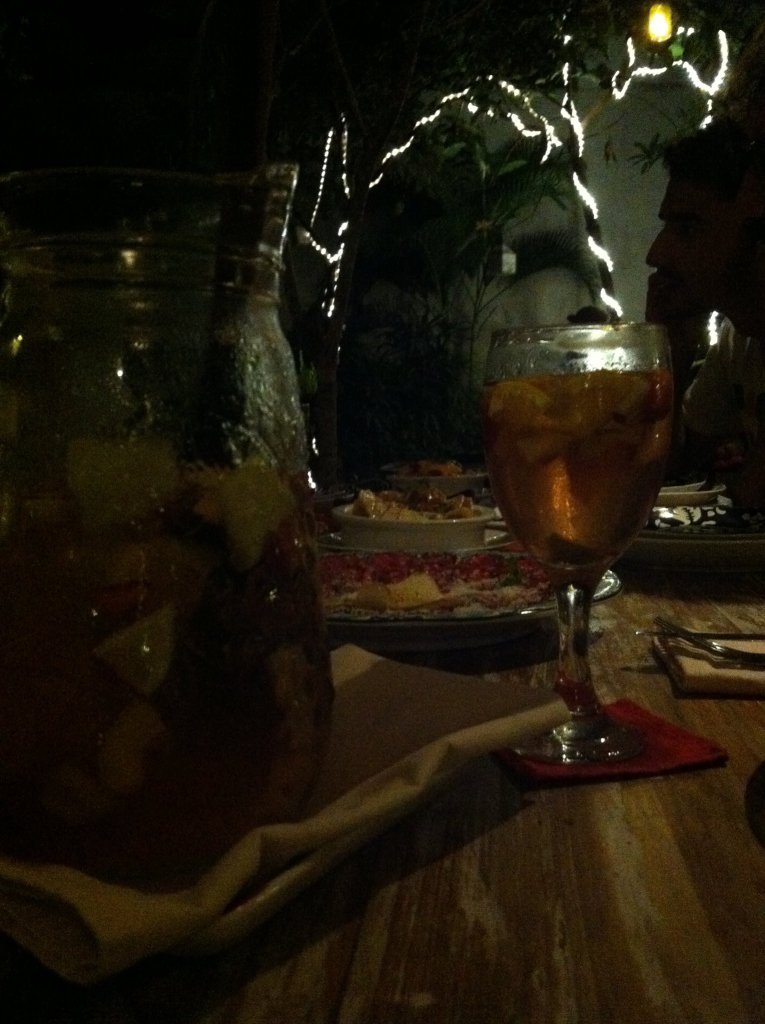 Having a bit of sangria over a very tantalizing conversation, under the cover of a new moon. ~at La Finca in Canggu, Bali - Indonesia~