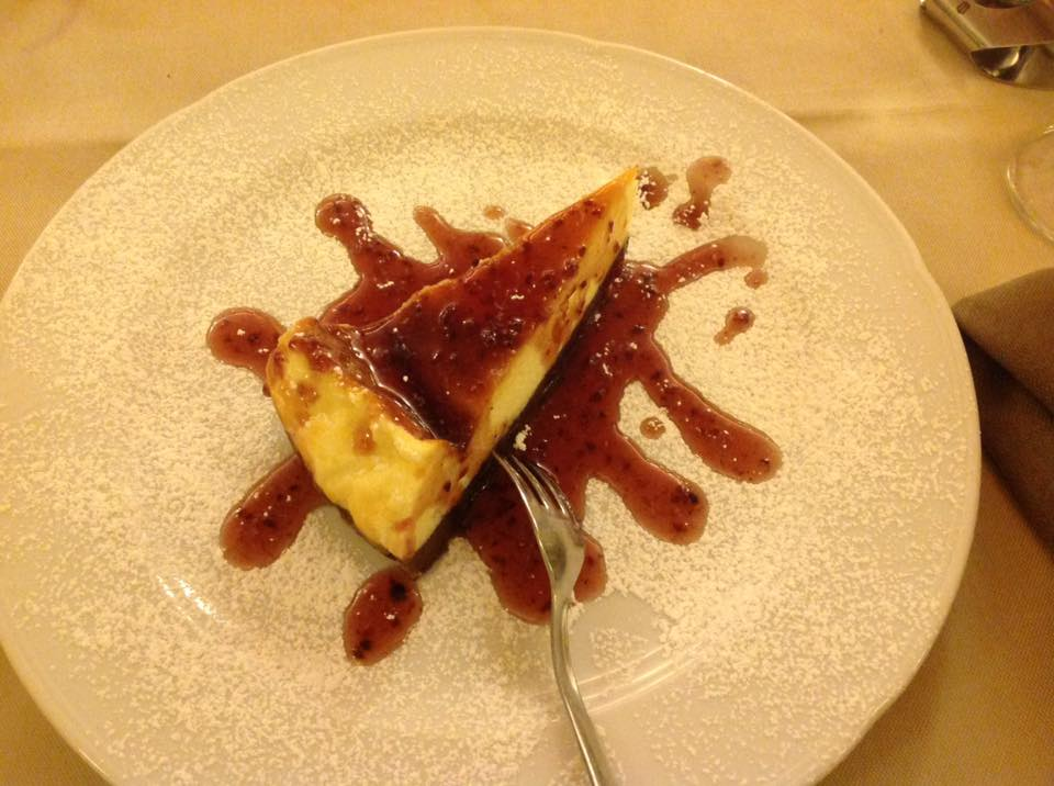 A little cheesecake goes a long way...it truly makes my day! ~at a pizzeria in Firenze, Italy~