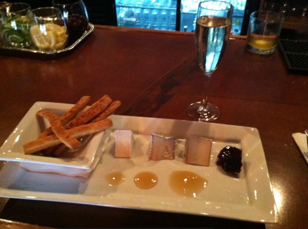 Simplicity on a platter...my appetizer at Lucid Jazz Lounge along with a lil' spark to wet my whistle. Thanks again David Pierre-Louis for the wonderful evening! ~in Seattle, Washington~