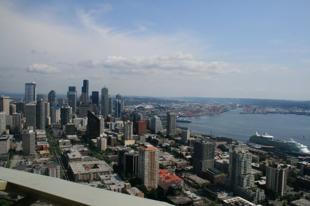 My birds-eye view from a top the Space Needle. ~Seattle, Washington~