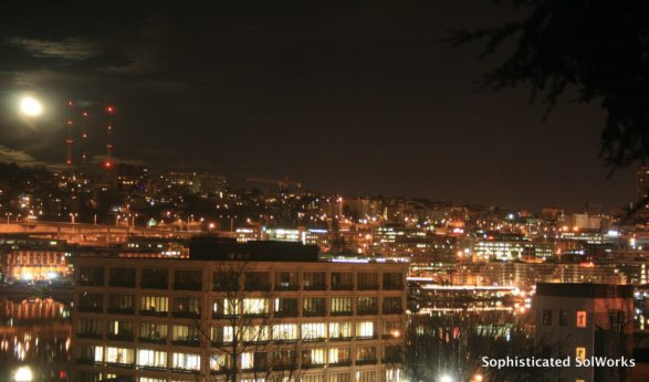 Night Owl Views from my flat in Lower Queen Anne ~Seattle, Washington~