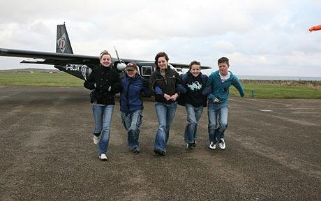 Loganair: Six teenagers are to take the Loganair service to Westray Junior High after the local ferry service was suspended. Photo: ORKNEY PHOTOGRAPHIC