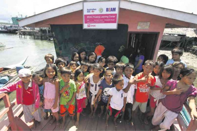 A PINK floating school moored at a community of houses on stilts in Bongao town, Tawi-Tawi province, stands as a beacon of hope for Badjao children, who have little access to education in the country.