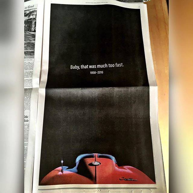 Seen today in the New York Times - well done Chevrolet.