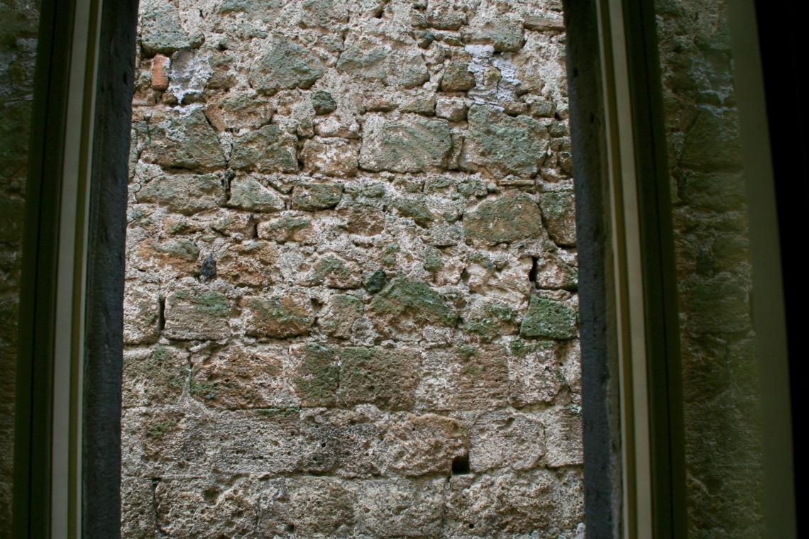 Brick Wall View in Bagnoregio