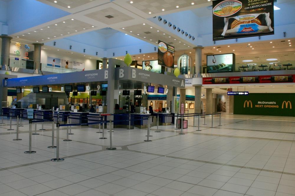Puglia's (empty) Airport