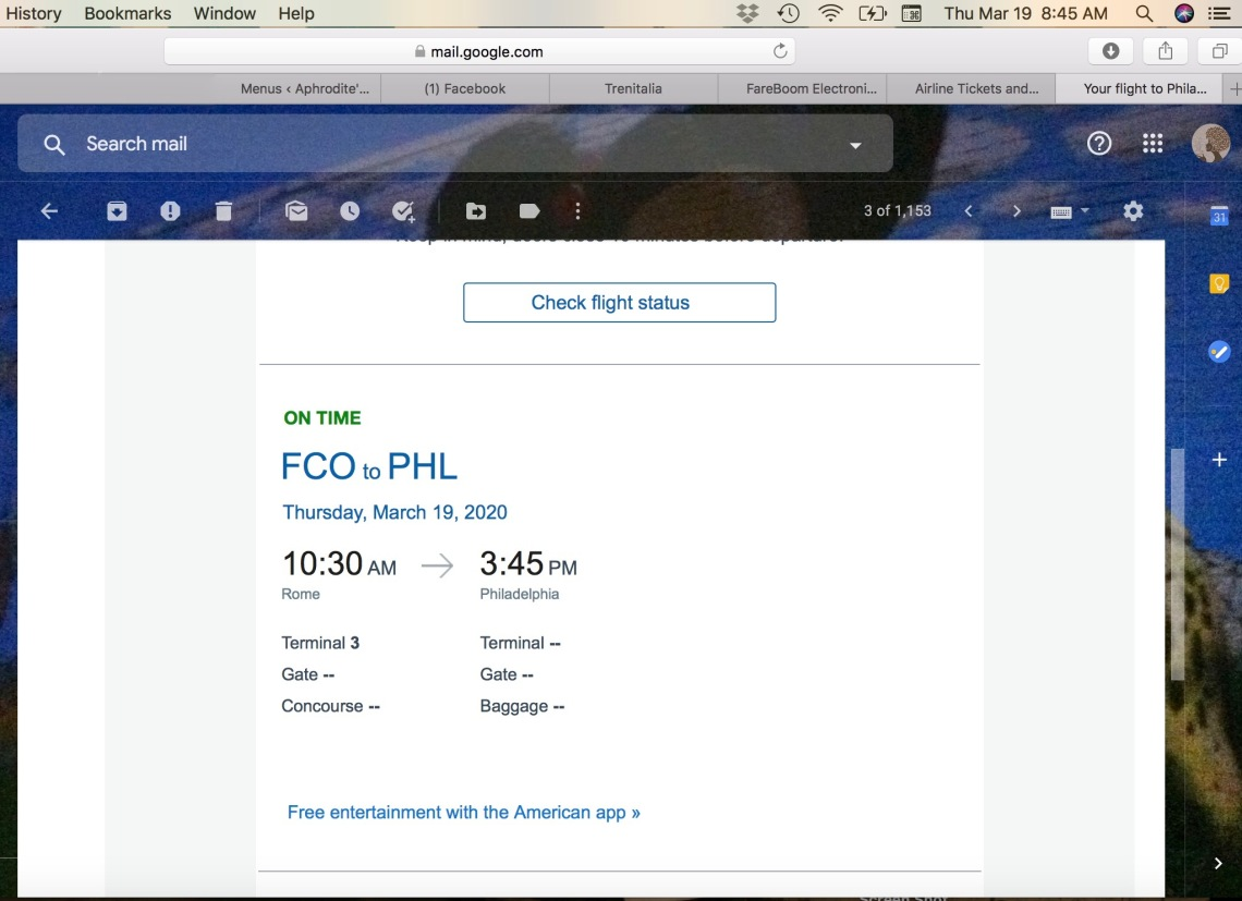 Email Notice for Flight - Seemingly Not Cancelled